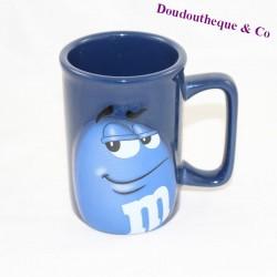 M-M'S blue 3D ceramic cup mug 11 cm