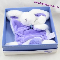 Doudou plat lapin DOUDOU ET COMPAGNIE Pompon lavande violet DC2739 24 cm