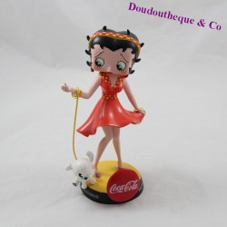 Collection figure Betty Boop AVENUE OF THE STARS Coca Cola statuette in resin dog 16 cm