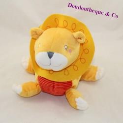 LION lion towel IKEA yellow red stripes 18 cm