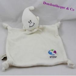 Doudou flat elfE white beige knots 32 cm