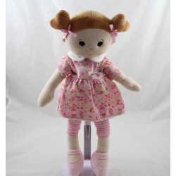 Toys'R'US Fabric Doll You - Me Pink Brown Floral Dress 35 cm