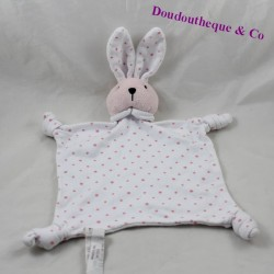 Doudou flat rabbit THE COMPAGNIE OF PETITS white pink stars 29 cm