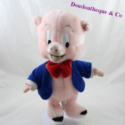 Porky Pig pig LOONEY TUNES blue jacket red knot 30 cm