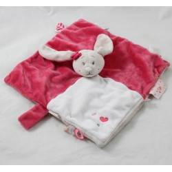 NOUKIE's Anna and Pili pink beige 27 cm flat doudou rabbit