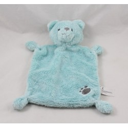 Doudou flat bear NICOTOY sky blue imprint gray Simba toys 23 cm