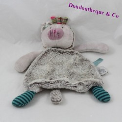 Doudou cat MOULIN ROTY the purple Pachats 21 cm