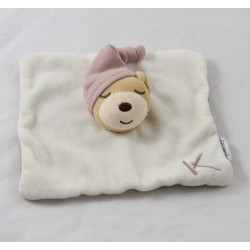 Doudou dish bears KALOO square sleeper Cap 17 cm beige Brown K