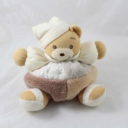 Bears Doudou KALOO patchwork sand Brown grey 18 cm