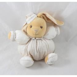 Doudou rabbit KALOO linen Dragée Linen white beige 16 cm