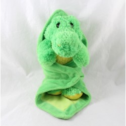 Plush elephant ECO-6 sitting gray Ecosysaction 16 cm