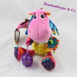 Dinosaur activity towel LAMAZE awakening pink bell 19 cm