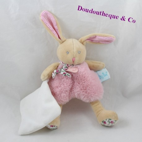 Baby NAT' Pink Beige Poupi flowery bN0110 20 cm