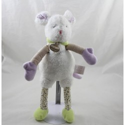 Doudou mouse DOUDOU AND COMPAGNY The white Choupidoux DC2765 33 cm