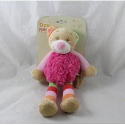 Doudou cat DOUKIDOU pink long hair DOU KIDOU 25 cm