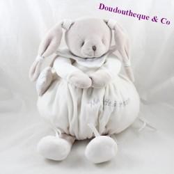 Pyjama verstaut doudou UND himmlische COMPAGNY Mein weiß-grauer Sternenschatz stash 45 cm