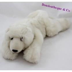 Anna CLUB PLUSH WWF elongated white polar bear towel 40 cm