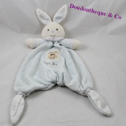 Doudou flat rabbit NOUNOURS Little blue rabbit 35 cm
