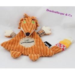 Doudou dish fox THE DEGLINGOS orange 25 cm