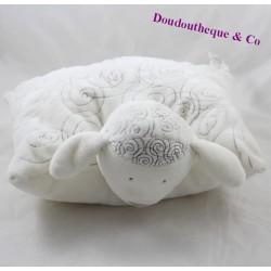 ObAIBI white brown sheep cushion OB 30 cm