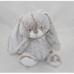 Peluche lapin TEX BABY marron chiné Carrefour assis 20 cm NEUF