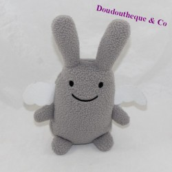 Doudou angel rabbit TROUSSELIER grey white wings 18 cm