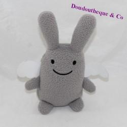 Doudou angel rabbit TROUSSELIER grey white wings 18 cm