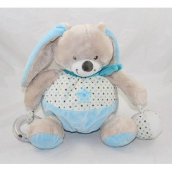 Plush ball rabbit children's words Blue Star Leclerc 22 cm