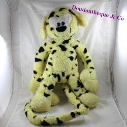Large plush yellow Marsupilami black stains vintage 55 cm