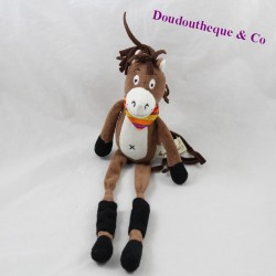 Doudou horse THE PETITES MARIE brown long legs 33 cm