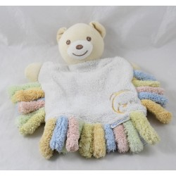 Doudou puppet bear KALOO feather bear with pastel fringes