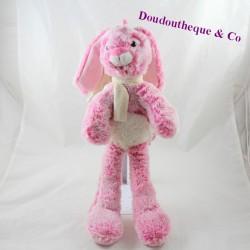 Pink rodADOU rabbit towel beige scarf 40 cm