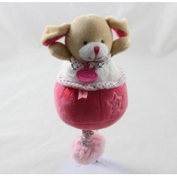 Doudou musical dog DOUDOU AND COMPAGNY Lovely strawberry music box 20 cm