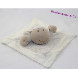 Soft flat sheep NATURE AND DECOUVERTES beige 25 cm