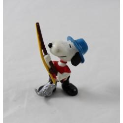 Figurine Snoopy PEANUTS SCHLEICH pêcheur canne à pêche poisson 8 cm