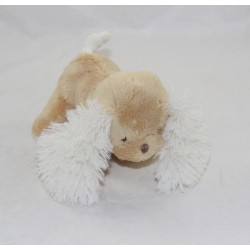 Peluche Caramel dog KALOO Friends beige white 15 cm
