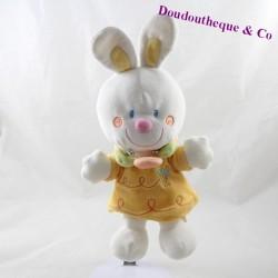 Rabbit towel NICOTOY yellow white bee 29 cm
