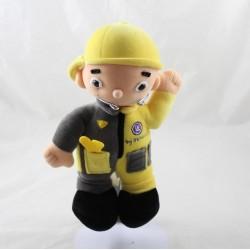 Peluche mécanicien RENAULT Toys jaune gris casquette 21 cm