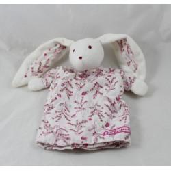 Doudou puppet rabbit SERGENT MAJOR little happiness flowery fabric