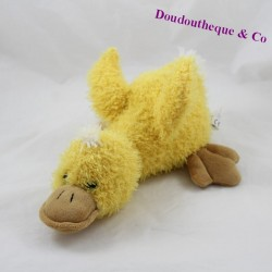 Soft FRIENDS yellow duck towel with long hairs 30 cm