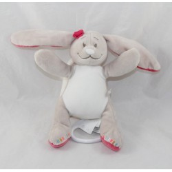Little musical plush Pili rabbit NOUKIE'S Anna and Pili rabbit pink beige 15 cm