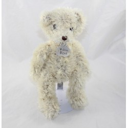 OurS HISTORY Bear Doudou dined beige long hair 26 cm