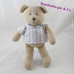 JacADI Bear Pluslet Knit with Blue Shirt 30 cm