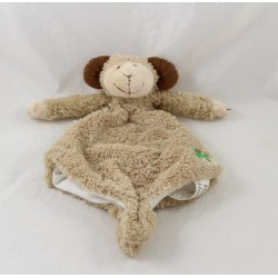 Doudou puppet ram HAPPY HORSE clover with 4 beige leaves 24 cm