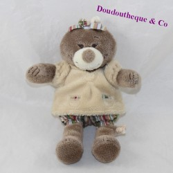 NOUKIE'S taupe doudou Emma, Paco and Aldo brown 18 cm