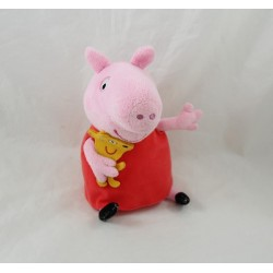 Peppa Pig JEMINI towel with soft pink pig dress red 18 cm