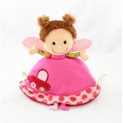 Doudou doll Liz LILLIPUTIENS reversible ladybug butterfly awakening