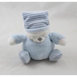 Small teddy bear MAX - SAX blue Moon stripes Carrefour 12 cm