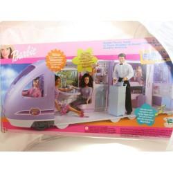 Barbie travel train MATTEL Le train magique de Barbie effets sonores 2001 neuf