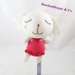 Doudou rabbit GRAIN OF BLÉ red angel wings 19 cm